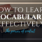 How to learn vocabulary effectively: the power of context
