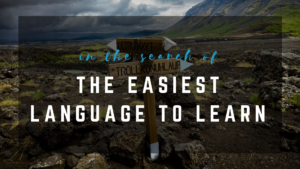 In the search of the easiest language to learn