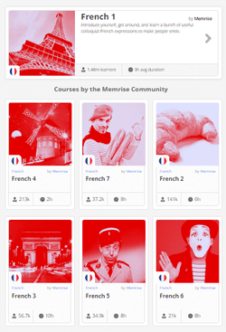 7 Pack French Course by Memrise