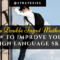 Double Input: How to Improve Foreign Language Skills