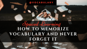 How to memorize vocabulary with spaced repetition